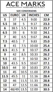 Ace Conversion Chart Size Guide Chart