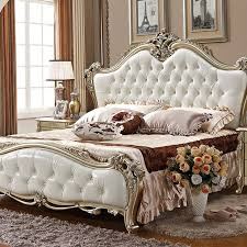 China furniture in pakistan solid queen size wood bed ivory white ...