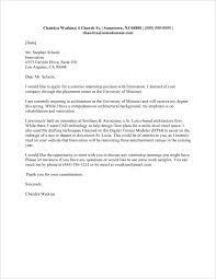 Cover Letter Sample For Internship Cover Letter For Internship