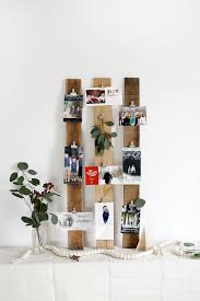 Reclaimed wood displaying photos