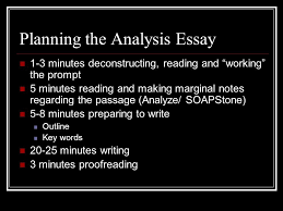 the rhetorical analysis essay ppt video online  planning the analysis essay