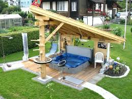 Hot Tub Backyard Ideas Plans Simple Decorating