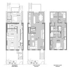 narrow city lot house plans best of narrow row house floor plans gebrichmond
