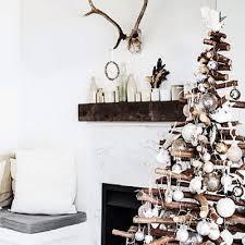 Christmas Tree On Rustic Wood Stock Photo  Image 46244578Wooden Branch Christmas Tree