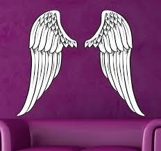 angel wing wall art spread angel wings wall art sticker