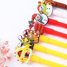 <b>42 pcs Lot</b> Christmas gifts gel ink pen Black color pens <b>Cute</b> snow ...