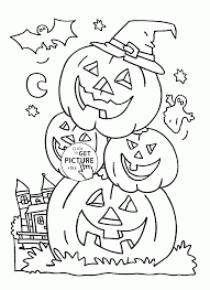 Small Picture Halloween Pumpkin Coloring Pages Getcoloringpages Com Coloring