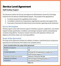 help desk service level agreement template it support service level agreement template emsec info