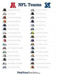 list of sports teams list of nfl teams printable football rules nfl list of nfl