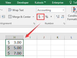 How To Move Dollar Sign Closer Number In Excel