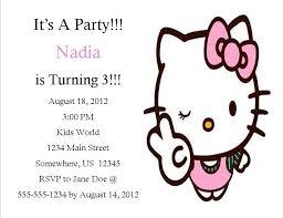Hello Kitty Party Invitation Hello Kitty Birthday Invitation 2 From Southern Desktop Publishing