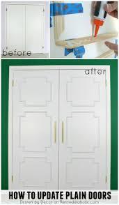 Updating Closet Doors Remodelaholic Add Molding To Update Closet Doors