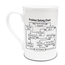 Problem Solving Chart Fuck It Rude Funny Fine Bone China