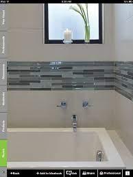 White And Glass Tile Border Bathroom Tile Inspiration Bathroom Tile Designs Modern Bathroom Tile
