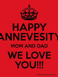 happy annevesity mom and dad we love you poster
