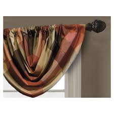 display reviews for emilia 36 in rust polyester rod pocket valance