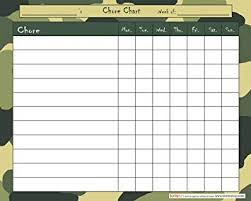 Chore Lists For Teens Chore Chart Camo For Children Toddlers Teens Kids Boys Girls 50 Pages Notepad Tear Off Sheets