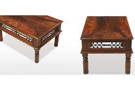 jali sheesham 110 cm coffee table