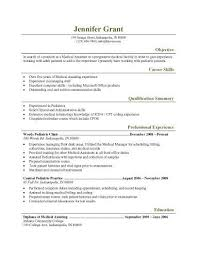 objective for medical resume 16 Free Medical Assistant Resume Templates