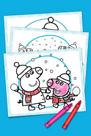 Coloring book is always the best gift. Peppa Pig Winter Coloring Pack Nickelodeon Parents