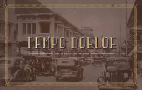 the typeface is called tempo doeloe meaning old times in english the inspiration of the typeface came from letters that were used on old signages on