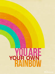 Rainbow Positive Design Quote Fo Realz Rainbow Quote