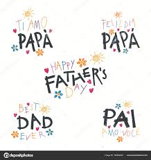 Fathers Quotes Extraordinary Set Hand Written Fathers Day Lettering Quotes Childish Drawings