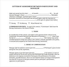contract letter lovely letter of agreement letter
