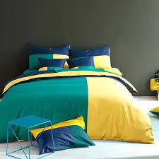 european big spell color cotton denim fashion bedding set 4 bedclothes queen king bed 15m ralph denim single