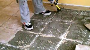 old tile adhesive from concrete floor best way to remove ol how