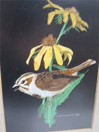 Transitional Design Online Auctions - Pair of Erma Eaton Framed Bird Art  Prints (Signed)