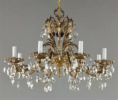brass crystal chandelier vintage antique brass and crystal chandelier