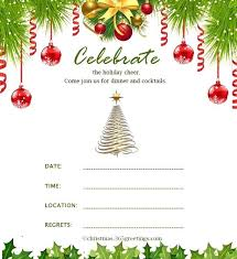 Party Invitation Template And Wording Ideas Download Christmas