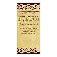 Wedding Program Scroll Vintage Scroll Rustic Country Wedding Program Zazzle Com