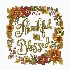 Imaginating Cross Stitch Charts Thankful Blessed