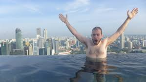 infinity pool singapore. On The Edge: Swimming At Infinity Pool In Singapore O