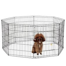 ollieroo dog playpen exercise pen cat fence pet outdoor indoor cage 8 panel black e coat small