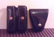 Double Magazine Pouch With Handcuff Holder Safariland Glock 100 Als Holster Duty Belt Mag OC Handcuff ASP Case 75