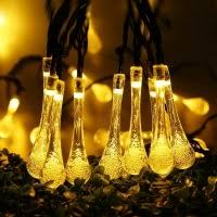 solar string lights. Brilliant Lights Christmas String Lights Patio Solar Lights Crystal Water Drop  192ft 30 LED Outdoor For String L