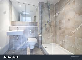 Modern En Suite Bathroom Large Shower Stock Photo 50943826 ...