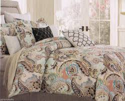 quilt bedding sets king awesome cynthia rowley king paisley aqua lime green blue brown