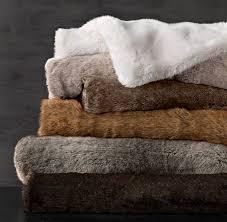 Faux Fur Blanket - Lynx & Luxe Faux Fur Blanket - Lynx Adamdwight.com