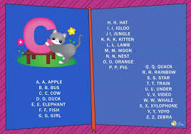 Colorful characters teach kids two words for each phonics song lyrics: Abc Phonics Songs And Rhymes For Children Ira Parenting
