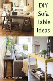DIY Sofa Tables to Dress Up the Back of a Couch Dig This Design