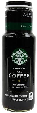black iced coffee starbucks.  Black Starbucks Iced Coffee Unsweetened Black 11oz Intended