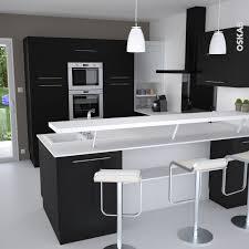 Cuisine Noire Porte Effet Soft Touch Ginko Noir Mat Kitchen