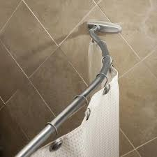 curved tension shower rod grab bar chrome tension curved shower rod installation curved tension shower