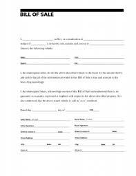 what is a bill of sale bill of sale pdf