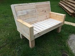 pallet outdoor bench diy. Recycled Pallet Beefy Outdoor Bench Diy L