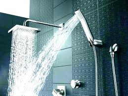 shower heads rainfall delta square rain head with handheld